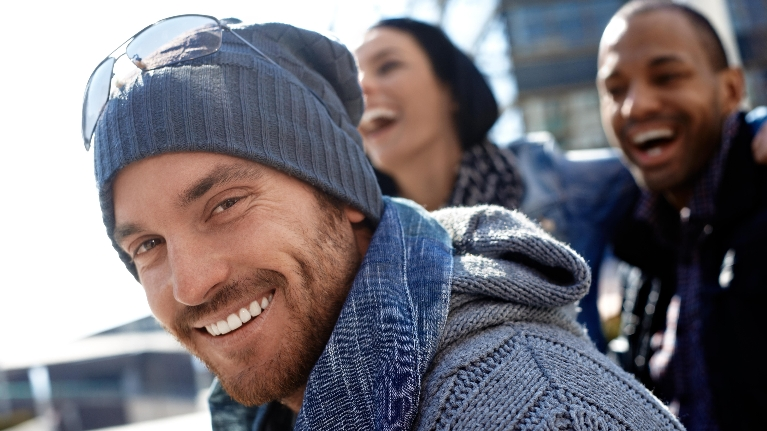 Man in Beanie Smiling | Dentist in Lafayette LA