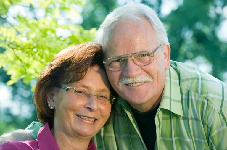 older couple smiling | Dentist lafayette la